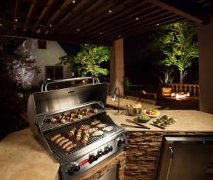 Outdoor kitchen and living landscaping materials from CPS distributors in Denver, Colorado and Wyoming
