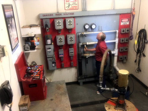 CPS Employee John Wachter Tests a Pump at Our Westminster, CO Location