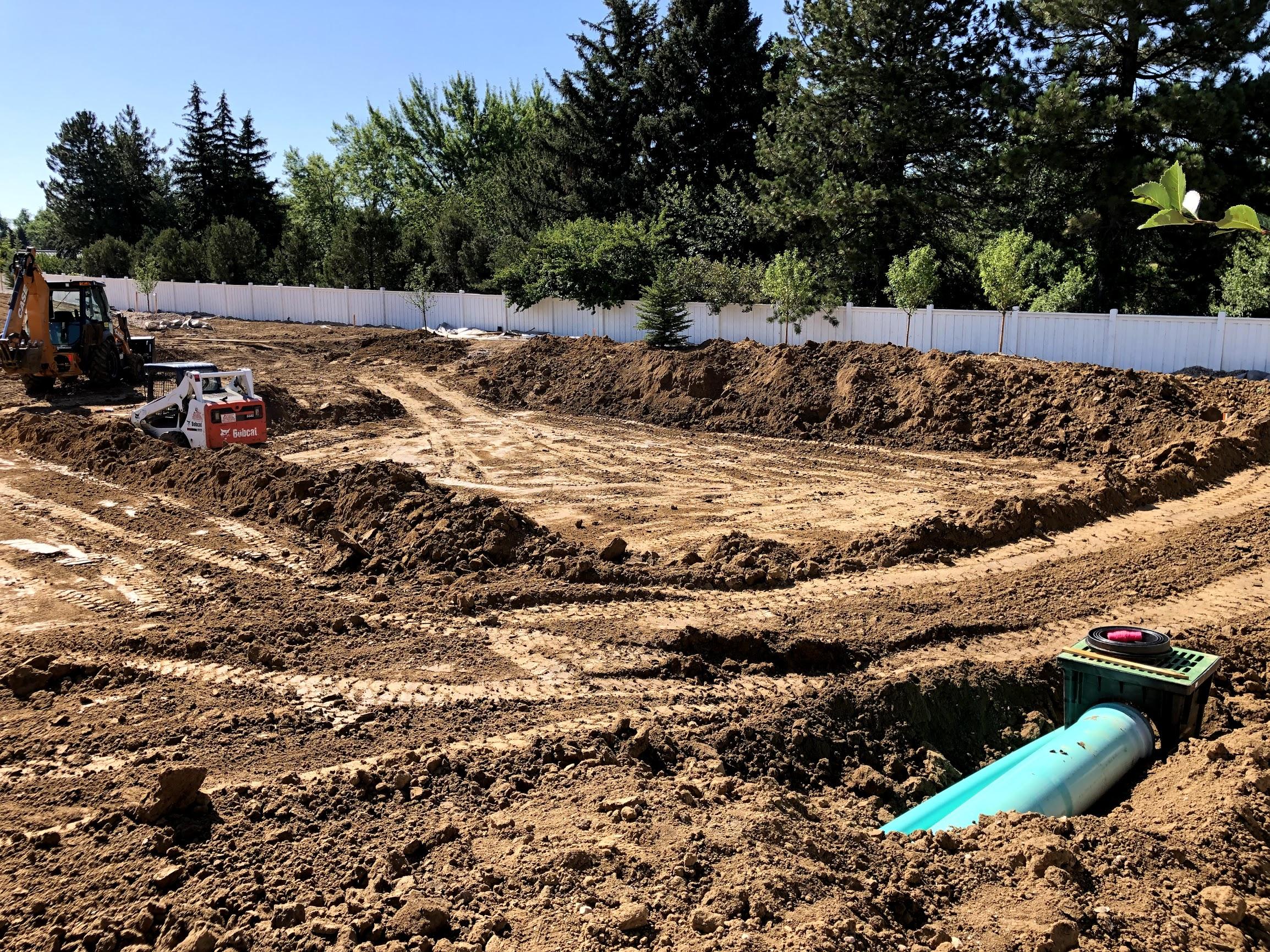 Detention Pond In Backyard - House Backyards